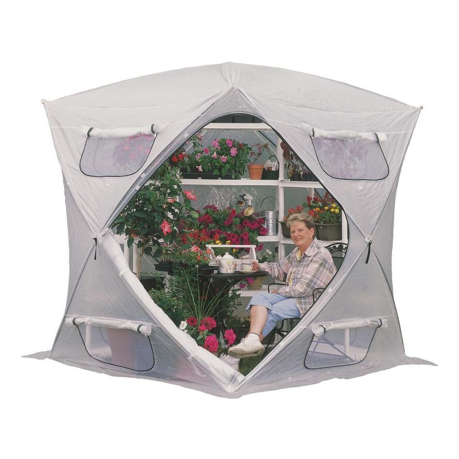 Flowerhouse 7-ft L x 7-ft W x 7-ft H Metal Greenhouse