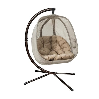 Magnificent Flowerhouse Egg Chair Bark Woven Hammock Chair With Stand At Short Links Chair Design For Home Short Linksinfo