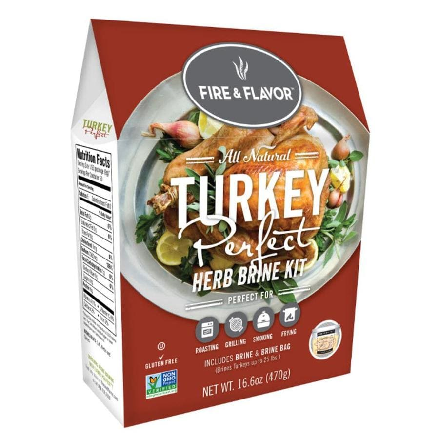 Fire & Flavor Turkey Perfect Herb Brining Kit