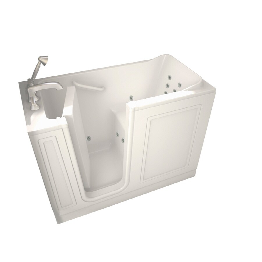 American Standard Walk-In Baths Walk-in Baths White Gelcoat and Fiberglass Rectangular Walk-in Whirlpool Tub (Common: 28-in x 48-in; Actual: 37-in x 28-in x 48-in)