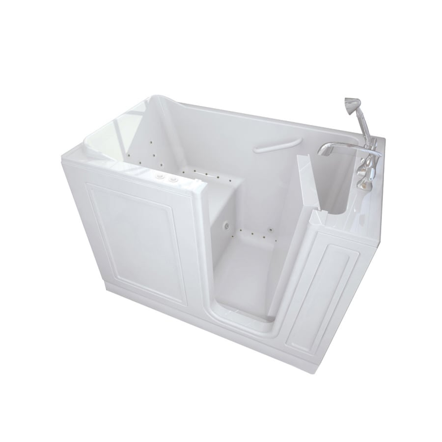 American Standard Walk-In Baths Walk-in Bath 50-in L x 30-in W x 37-in H White Acrylic Rectangular Walk-in Whirlpool Tub and Air Bath