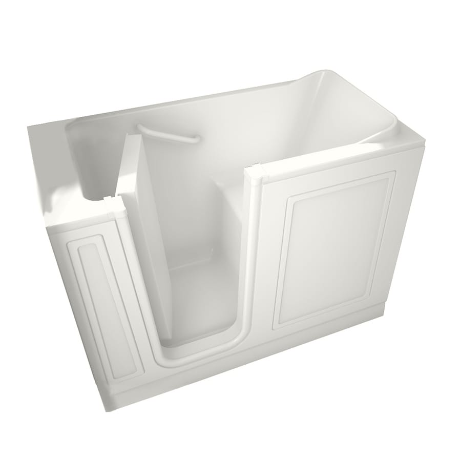 American Standard Walk-In Baths 50-in L x 30-in W x 37-in H White Acrylic Rectangular Walk-In Bathtub with Left-Hand Drain