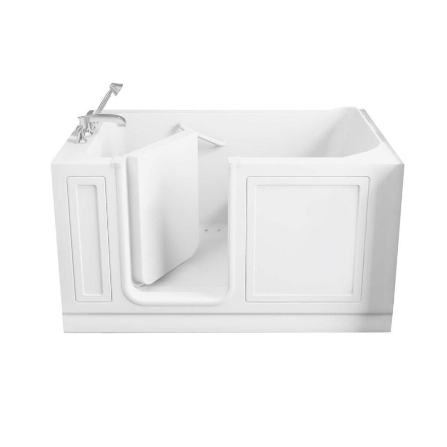 American Standard Walk-In Baths Walk-In-Baths 59-in L x 32-in W x 37-in H White Acrylic Rectangular Walk-in Air Bath