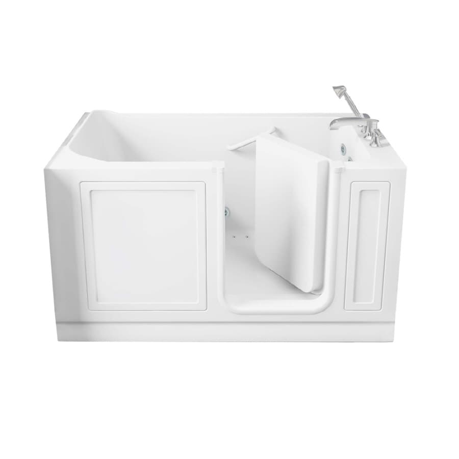 American Standard Walk-In Baths Walk-in Bath 59-in L x 32-in W x 37-in H White Acrylic Rectangular Walk-in Whirlpool Tub and Air Bath