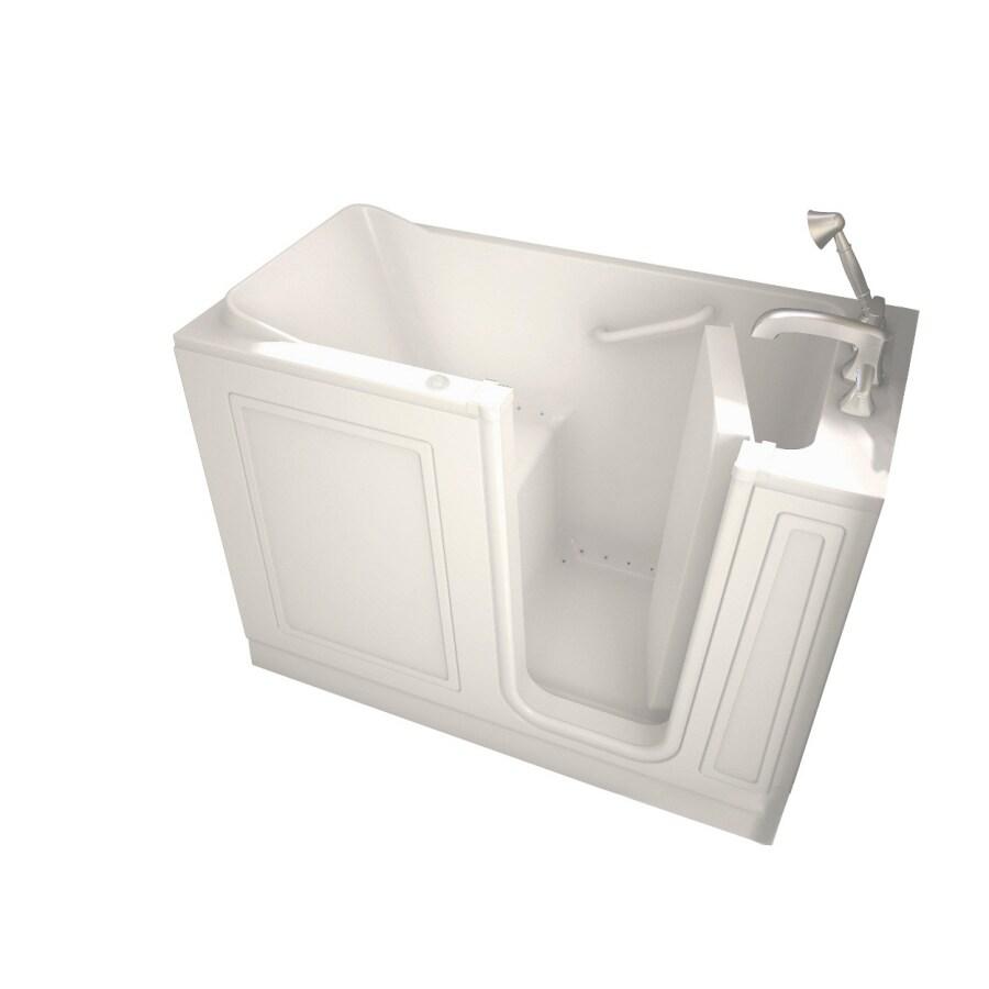 American Standard Walk-In-Baths 50-in L x 26-in W x 37-in H Linen Acrylic Rectangular Walk-in Air Bath