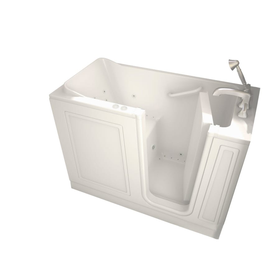 American Standard Walk-In Baths Walk-in Bath 50-in L x 26-in W x 37-in H Linen Acrylic Rectangular Walk-in Whirlpool Tub and Air Bath