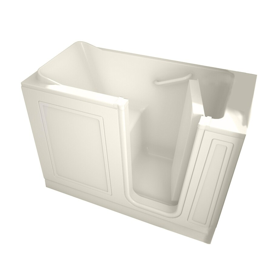American Standard Walk-In Baths 50-in L x 26-in W x 37-in H Linen Acrylic Rectangular Walk-In Bathtub with Right-Hand Drain