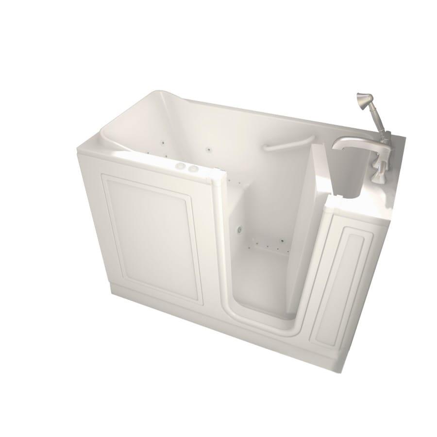 American Standard Walk-In Baths Walk-in Bath 50-in L x 30-in W x 37-in H Linen Acrylic Rectangular Walk-in Whirlpool Tub and Air Bath