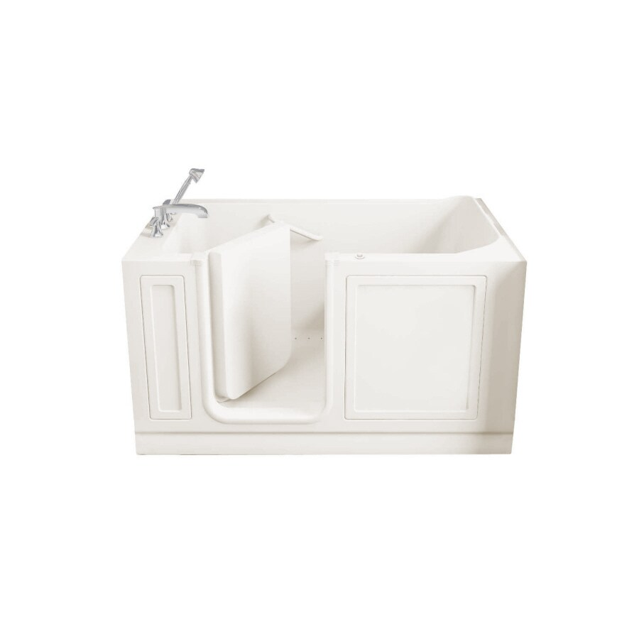 American Standard Walk-In Baths Walk-In-Baths 59-in L x 32-in W x 37-in H Linen Acrylic Rectangular Walk-in Air Bath