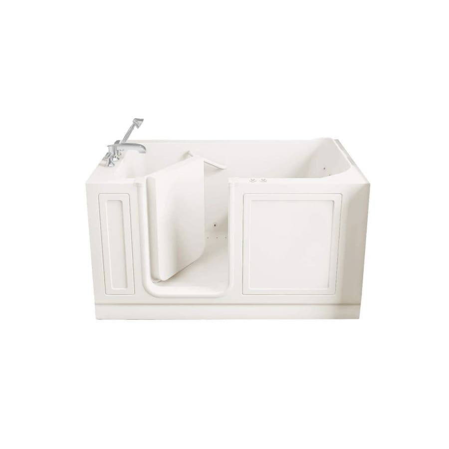 American Standard Walk-In Baths Walk-in Bath 59-in L x 32-in W x 37-in H Linen Acrylic Rectangular Walk-in Whirlpool Tub and Air Bath