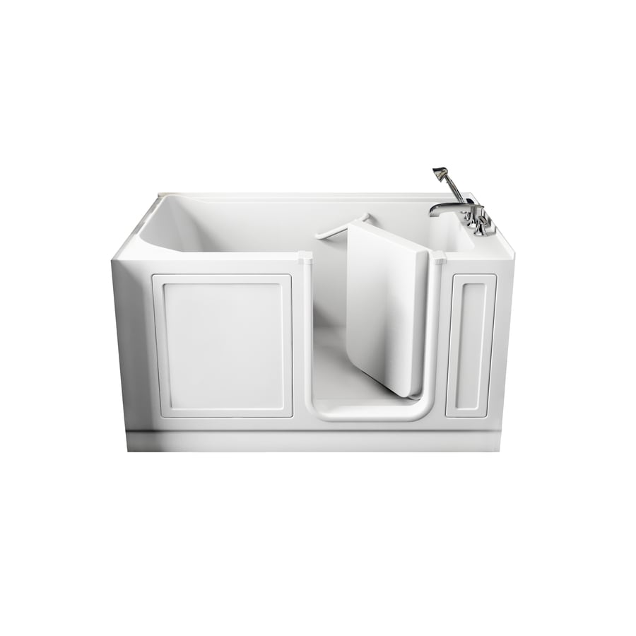 American Standard Walk-In Baths Walk-in Acrylic Rectangular Walk-in Bathtub with Left-Hand Drain (Common: 32-in x 59-in; Actual: 37-in x 32-in x 59-in)