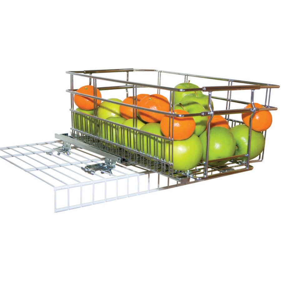 6-in W x 6-in H x 16-in D Chrome Basket