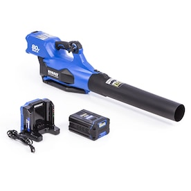 Kobalt 140 MPH 80-Volt Max Lithium Ion (Li-Ion) Brushless Cordless Electric Leaf Blower (Battery Included)
