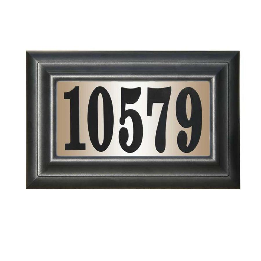Custom Home Accessories 9-in Black House Number Rectangle
