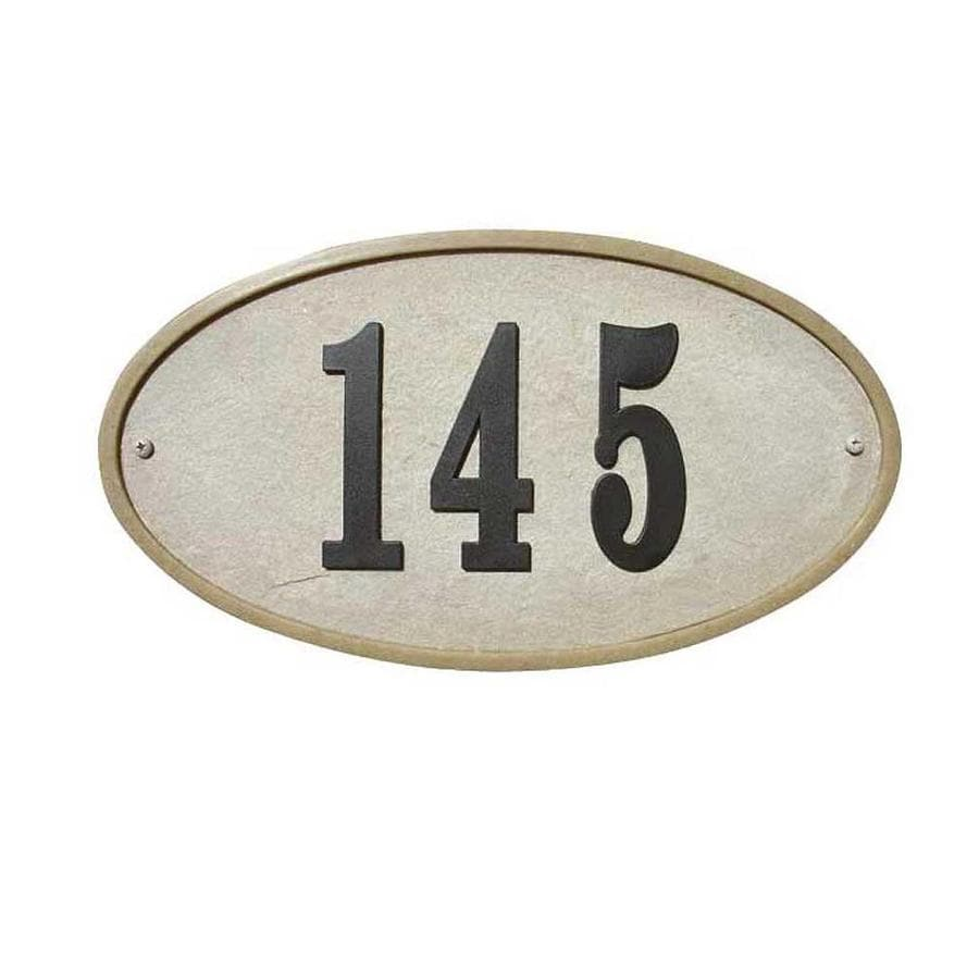 Custom Home Accessories 7.5-in House Number Oval