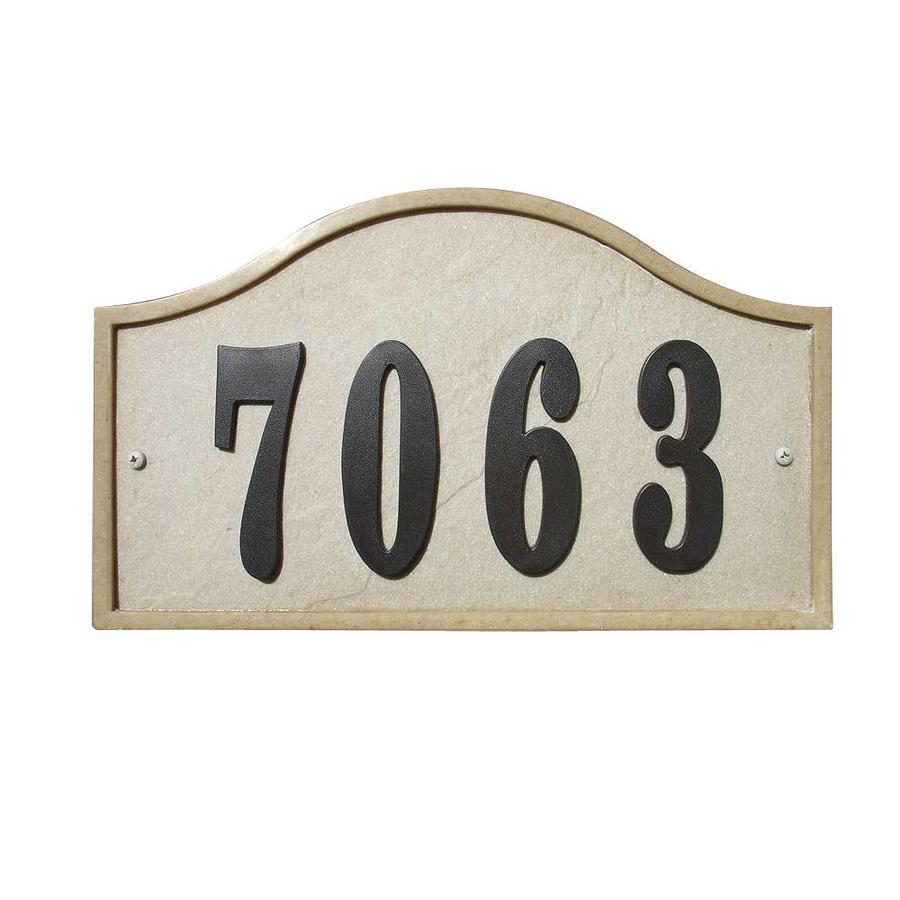 Custom Home Accessories 7.5-in House Number Serpentine Arch
