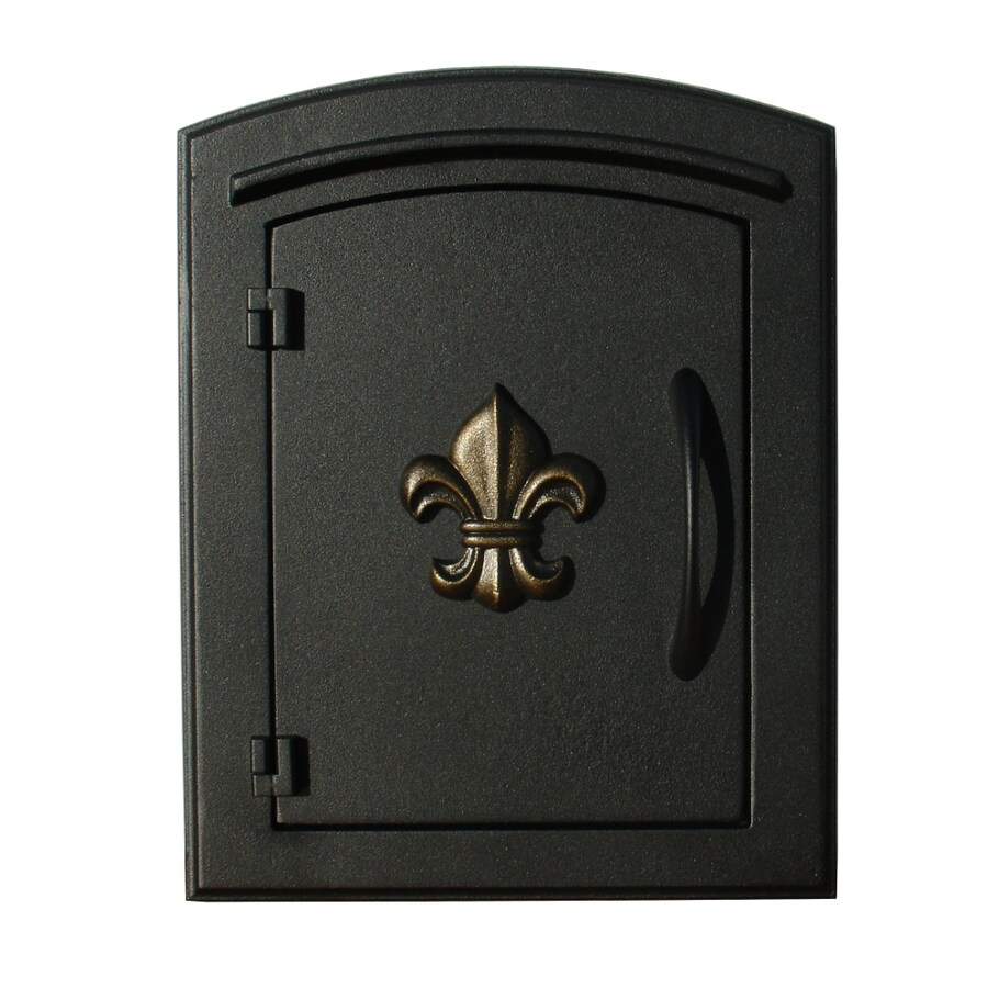 Custom Home Accessories 8.5-in x 12-in Metal Black Wall Mount Mailbox