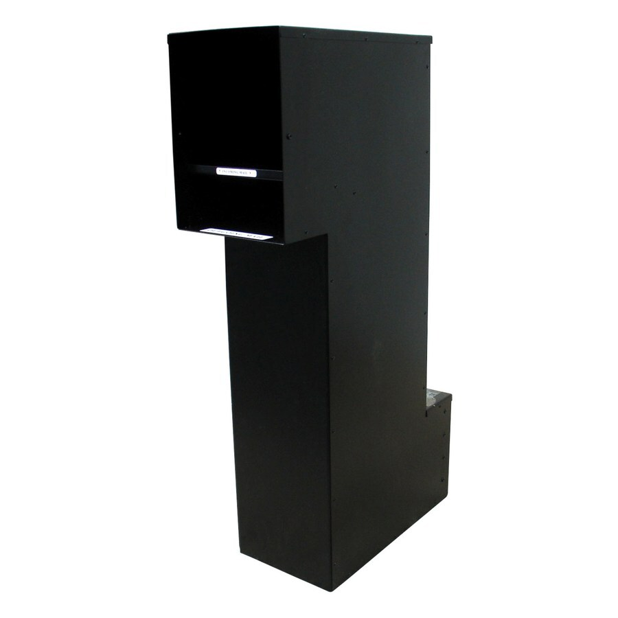 Custom Home Accessories 8.5-in x 36.5-in Metal Black Lockable Wall Mount Mailbox