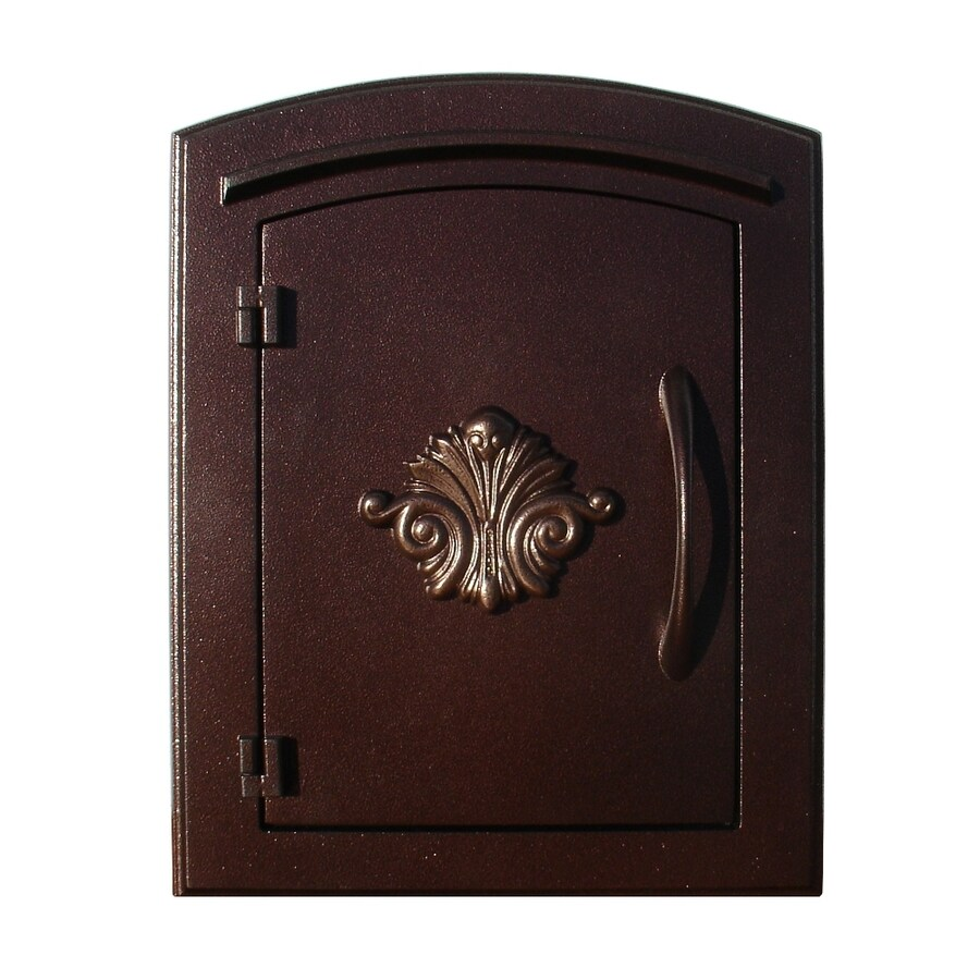 Custom Home Accessories 8.5-in x 12-in Metal Antique Copper Wall Mount Mailbox