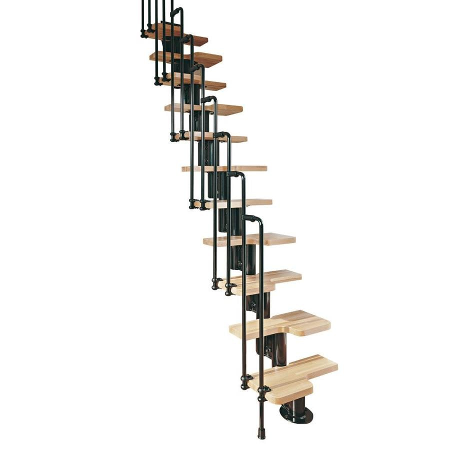 Genial Arke Karina X 9.25 Ft Black Modular Staircase Kit