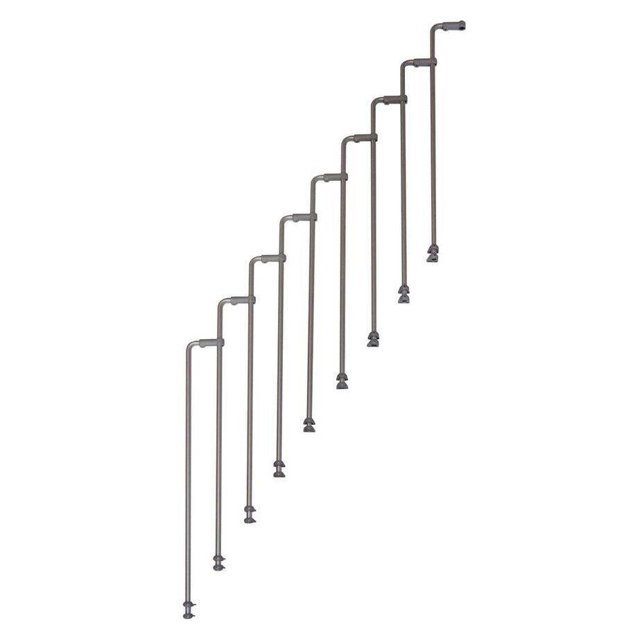 Arke Karina 5-ft Gray Painted Steel Stair Railing Kit