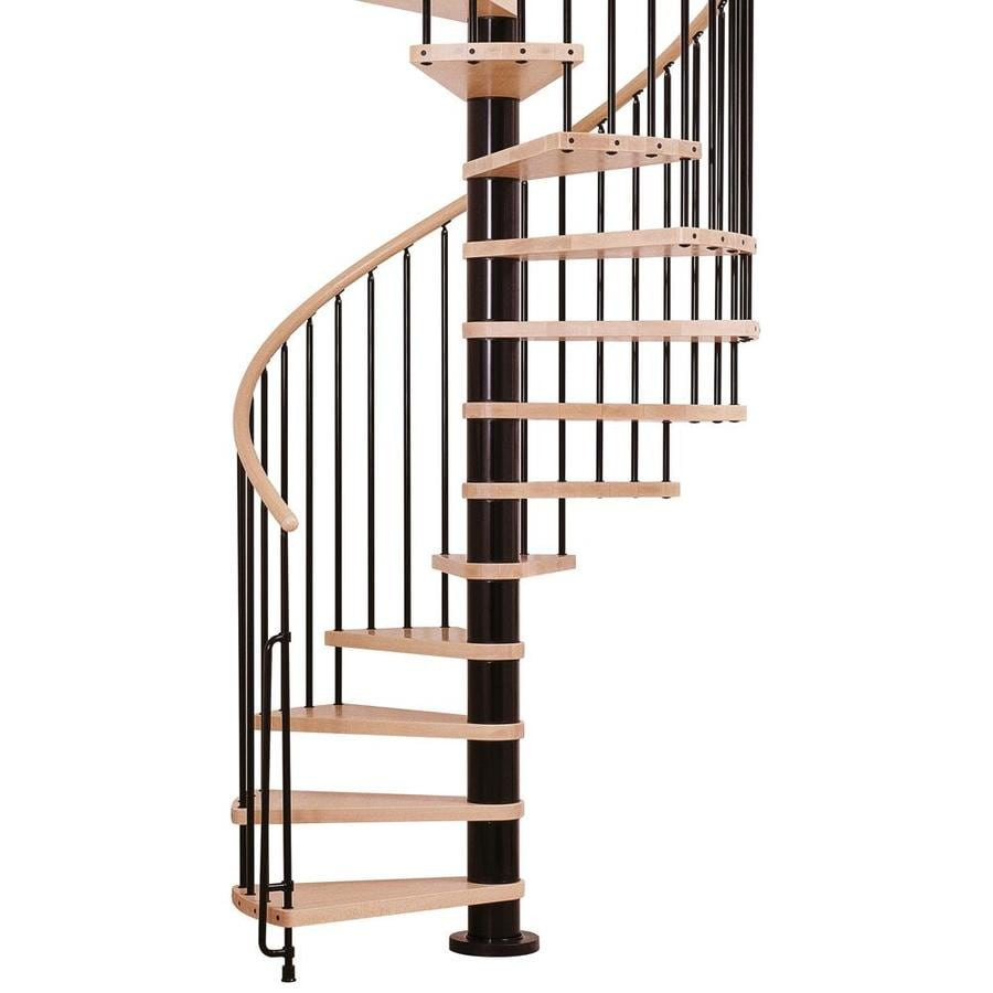 Shop Arke Phoenix 55 In X 10 Ft Black Spiral Staircase Kit
