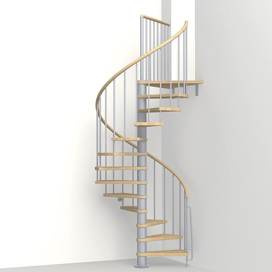 Shop Arke Phoenix 47 In X 10 Ft Gray Spiral Staircase Kit