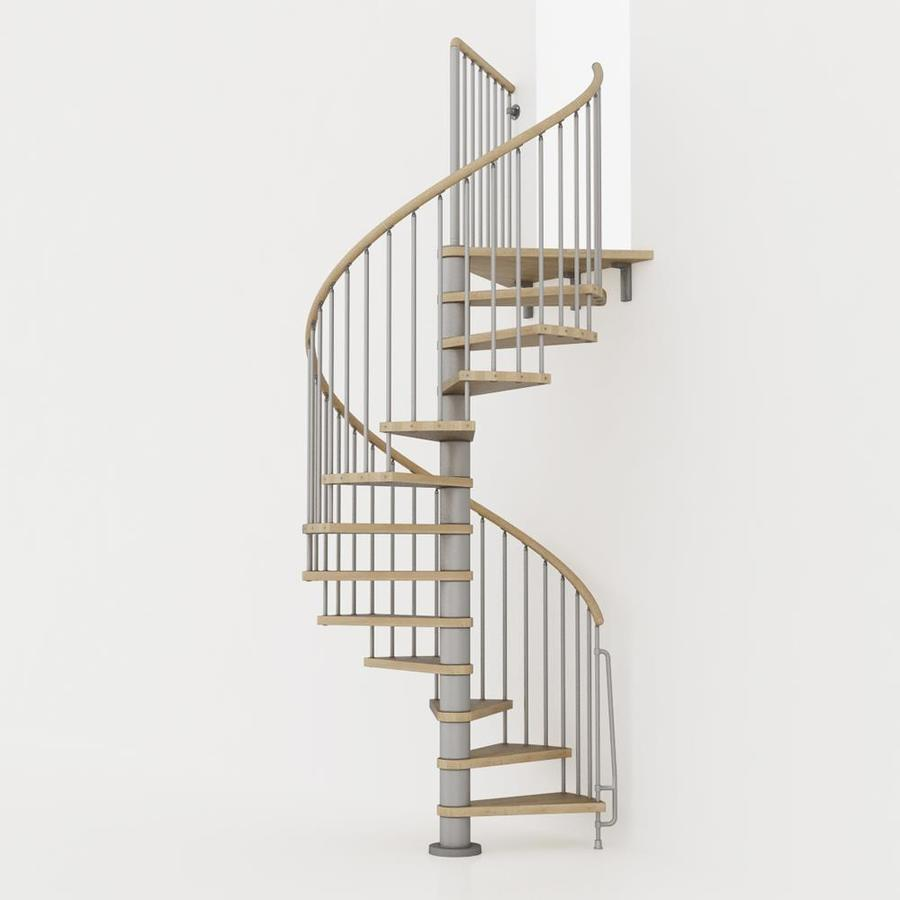Shop Arke Phoenix 55 In X 10 Ft Gray Spiral Staircase Kit