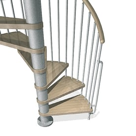 Ordinaire Arke Phoenix 63 In X 10 Ft Gray Spiral Staircase Kit