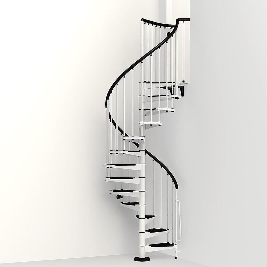 Arke Civik 47-in x 10-ft White Spiral Staircase Kit
