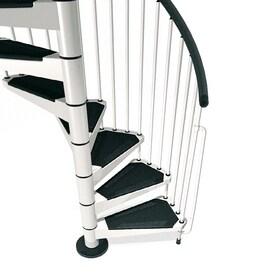 Arke Civik 47 In X 10 Ft White Spiral Staircase Kit