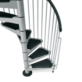 Arke Civik 47 In X 10 Ft Gray Spiral Staircase Kit