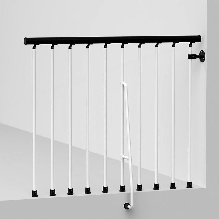 Arke Civik 3.9-ft White Painted Steel Stair Railing Kit