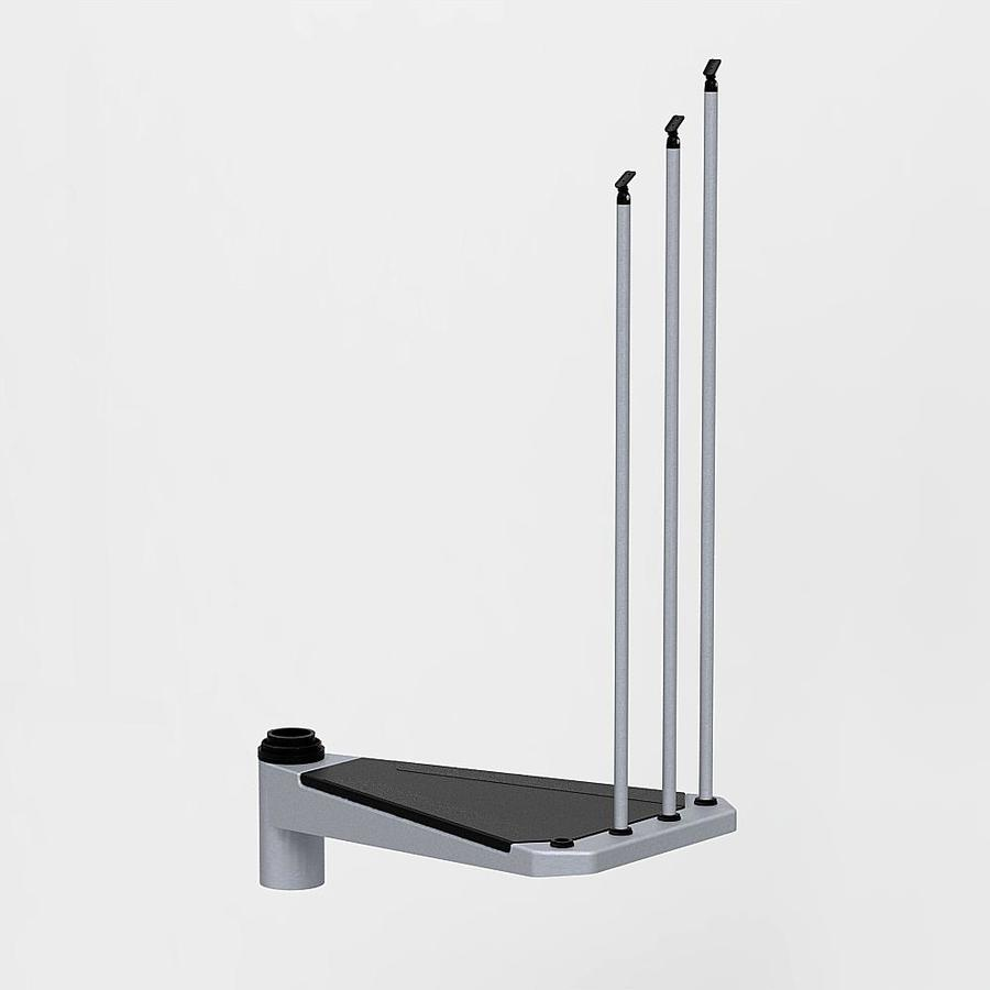 Arke Civik 28.5-in x 17.3-in Gray Painted Steel Stair Riser