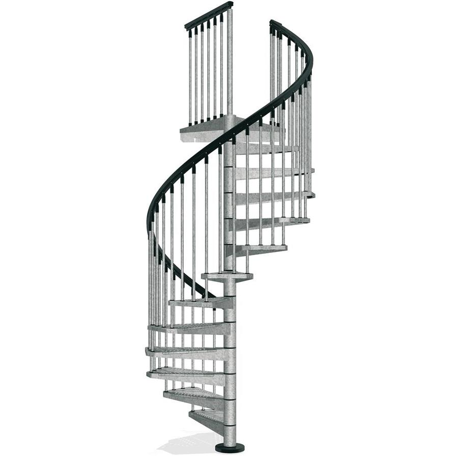 Shop Arke Enduro 63 In X 10 Ft Gray Spiral Staircase Kit
