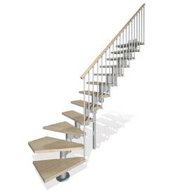 Arke Kompact X 9.9 Ft Gray Modular Staircase Kit