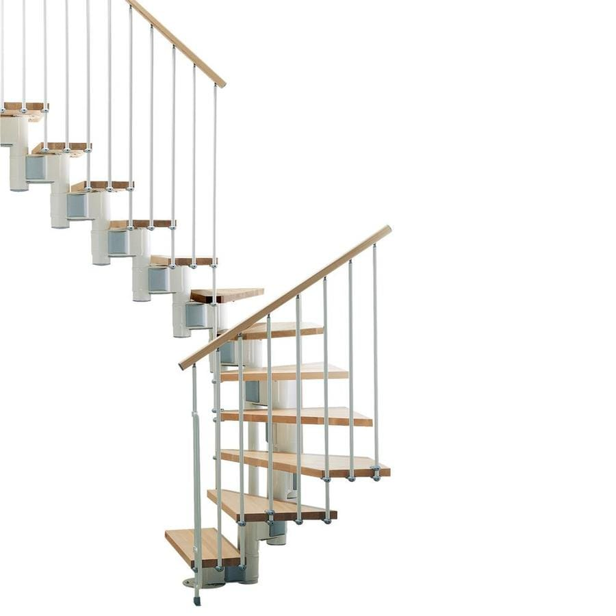 Shop Arke Kompact X 9 9 Ft White Modular Staircase Kit At