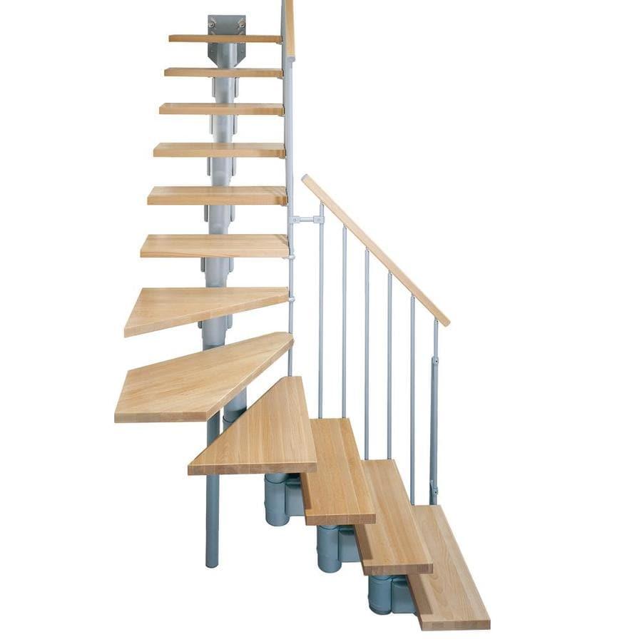 Shop Arke Kompact X 9 9 Ft Gray Modular Staircase Kit At