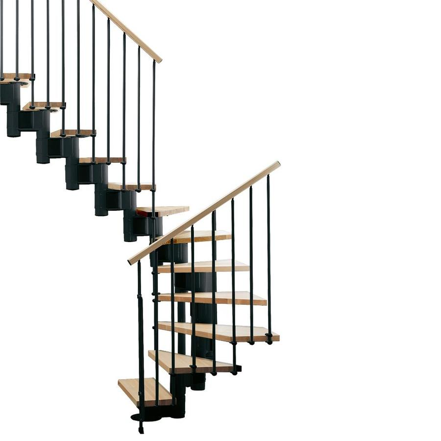 shop arke kompact x 9 9 ft black modular staircase kit at. Black Bedroom Furniture Sets. Home Design Ideas