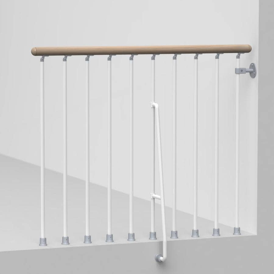 Arke Phoenix 3.9-ft White Painted Steel Stair Railing Kit
