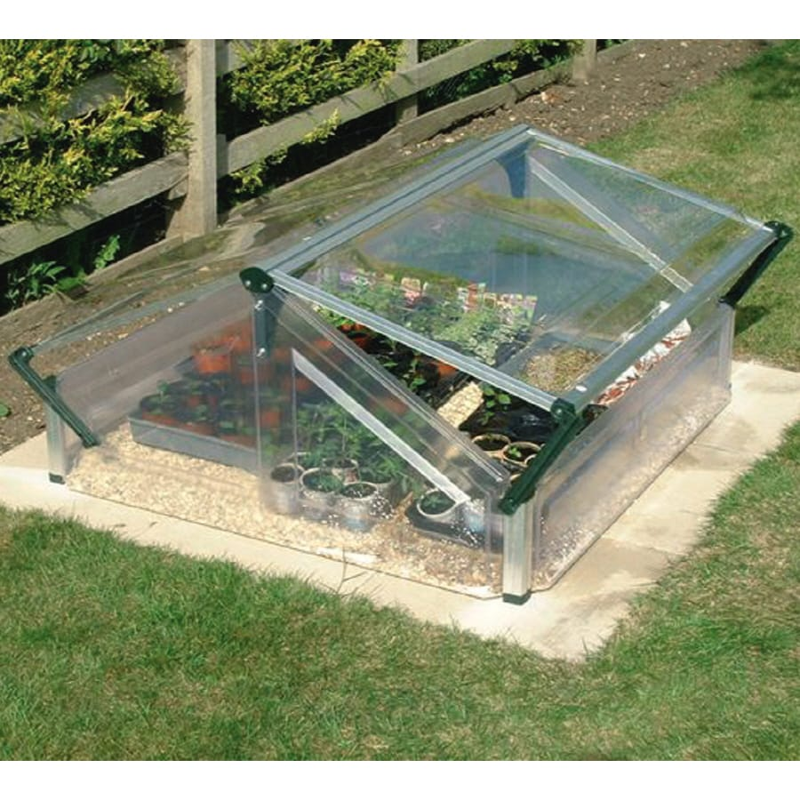 Palram 3.6-ft L x 3.25-ft W x 1.96-ft H Metal Acrylic Greenhouse