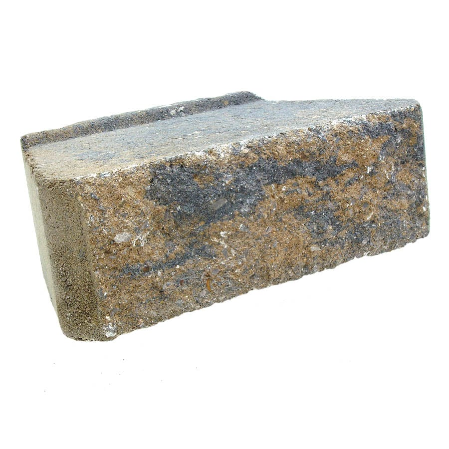 Tan/Charcoal Retaining Wall Block (Common: 4-in x 12-in; Actual: 4-in x 11.7-in)