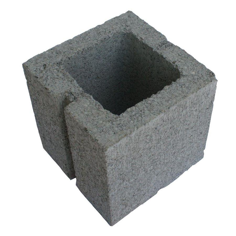 Half Cored Concrete Block (Common: 8-in x 8-in x 8