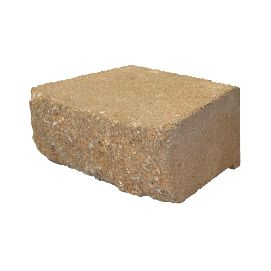 Tan Retaining Wall Block (Common: 4-in x 12-in; Actual: 4-in x 11.7-in)