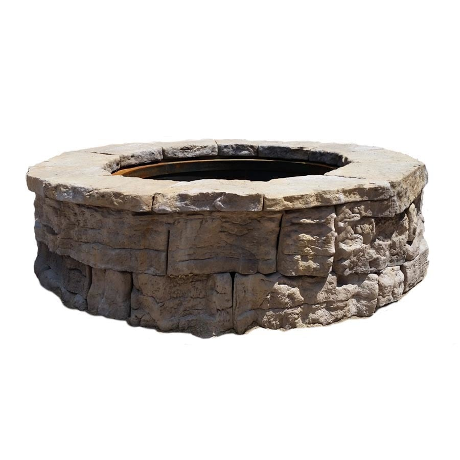 58-in W x 58-in L Sandstone Wet Cast Concrete Fire Pit Kit