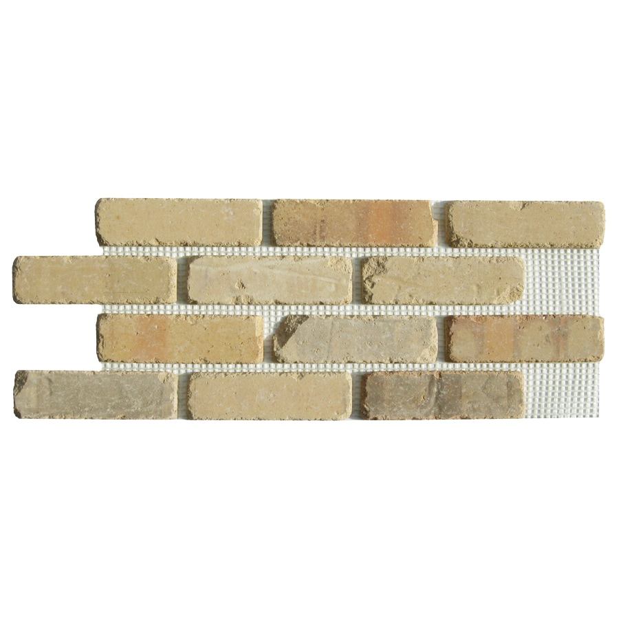 Old Mill Thin Brick Systems Brickweb 10.5-in x 28-in Alamo Sunrise Panel Brick Veneer