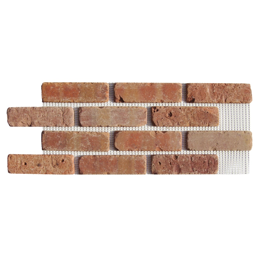 Old Mill Thin Brick Systems Brickweb 10.5-in x 28-in Dixie Clay Panel Brick Veneer