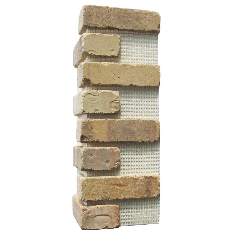 Old Mill Thin Brick Systems Brickweb 3-Pack 7.625-in x 21-in Alamo Sunrise Corner Sheet Brick Veneer Trim