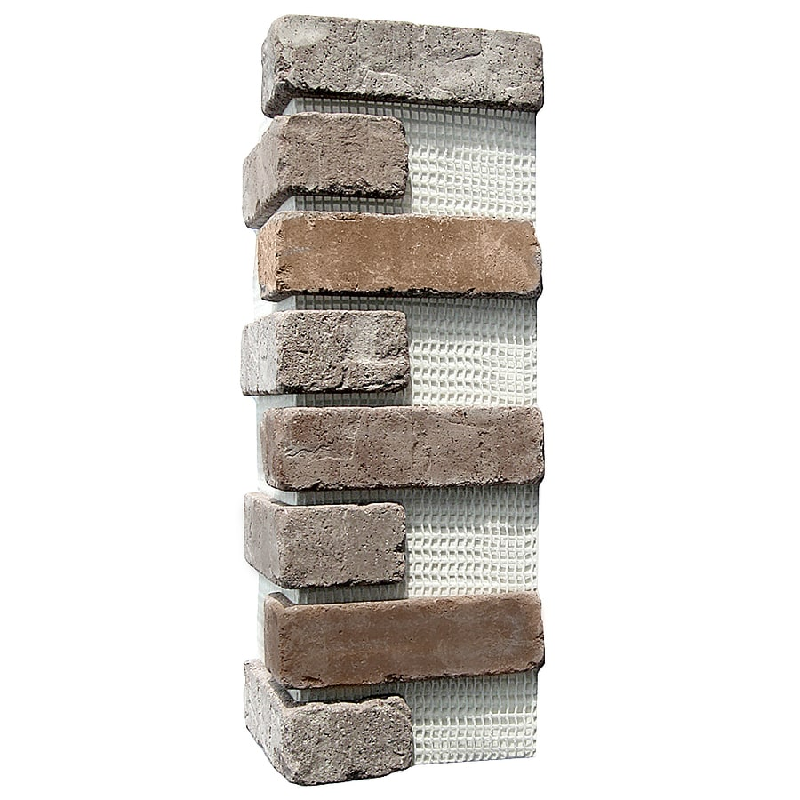 Old Mill Thin Brick Systems Brickweb 3-Pack 7.625-in x 21-in Rushmore Corner Sheet Brick Veneer Trim