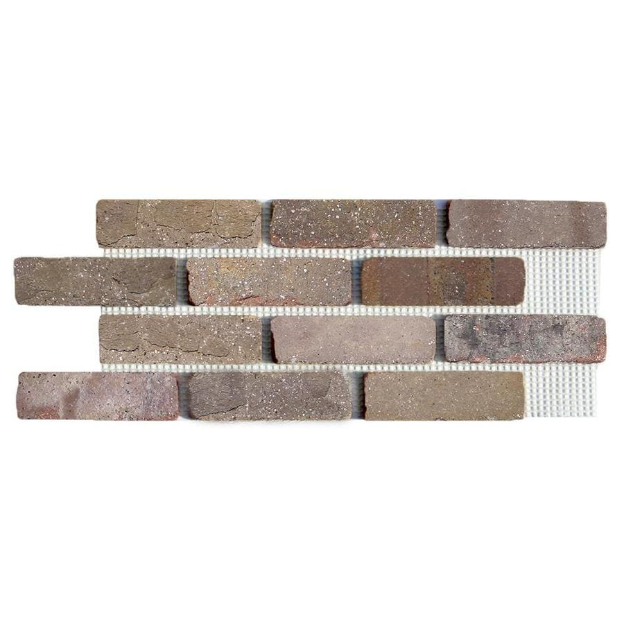 Old Mill Thin Brick Systems Brickweb 10.5-in x 28-in Promontory Panel Brick Veneer